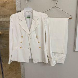 Armani Collection women's white suit